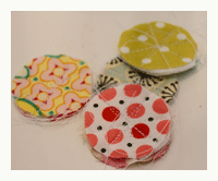 fabric circles for handmade arts and crafts necklace