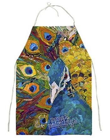 Paper Paintings apron by Elizabeth St. Hilaire