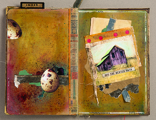 Collage inspiration journal