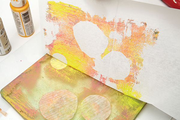 Using deli paper for gel-plate printing