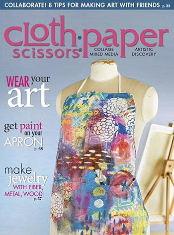 Altered art projects in Cloth Paper Scissors May/June 2015