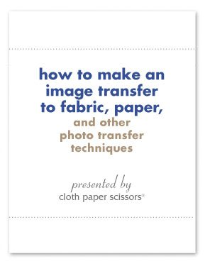 Image transfer to fabric paper and other photo transfer techniques