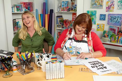 Cherie Dawn Haas and Joanne Sharpe   ClothPaperScissors.com