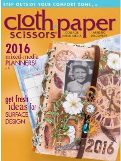 Cloth Paper Scissors mixed-media art