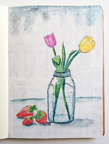 Watercolor art journal sketch