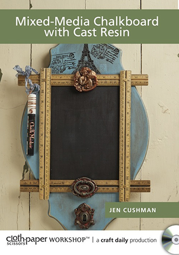 Mixed-Media Chalkboard with Cast Resin video with Jen Cushman