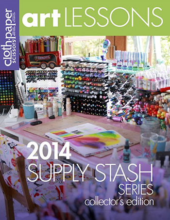 Cloth Paper Scissors Art Lessons 2014 Supply Stash Series Collector's Edition by Jane Davenport