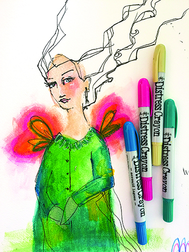 Exploring color with Jane Davenport from Cloth Paper Scissors magazine