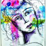 Dina Wakley scribbly face
