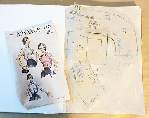 Building an art journal page