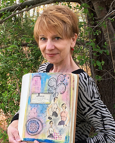 Art journal with doodle art