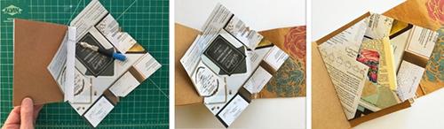 Envelope sewn into signature