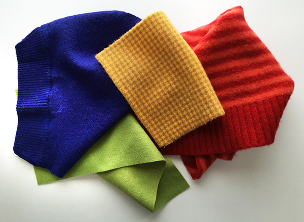 Felt scraps for layered fabric projects