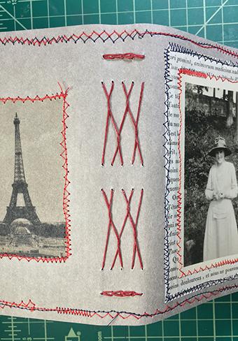 French stitch binding
