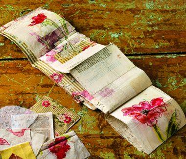 Sewn accordion collage