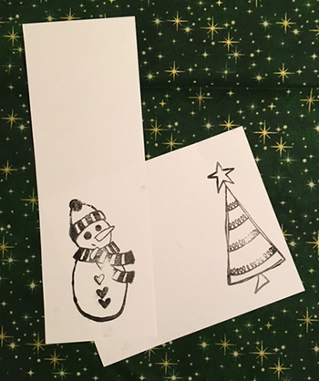 Ranger Dylusions holiday stamps