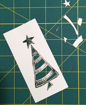 Ranger Dylusions holiday stamp