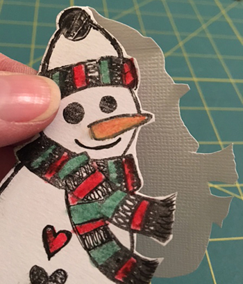 Ranger Dylusions stamp gift tag