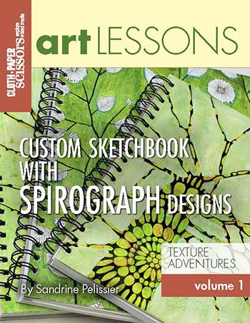 Art Lesson Volume 1: Custom Sketchbook With Spirograph Designs by Sandrine Pelissier