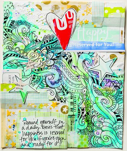 Jenn Olson doodle collage
