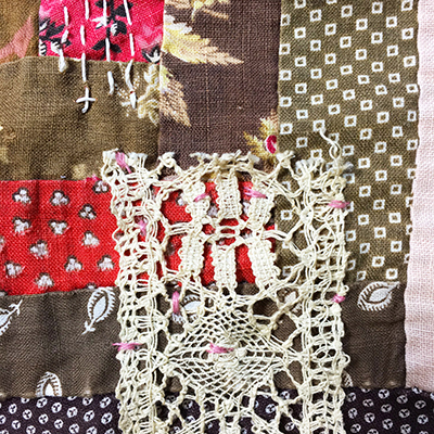 Attaching lace