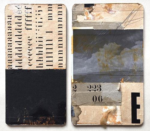 Collage works by Lee McKenna