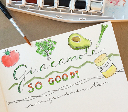 Hand lettering with watercolor