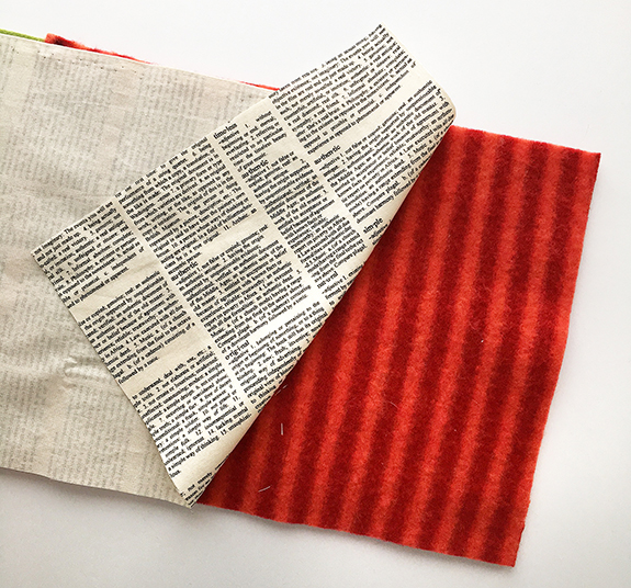 Lining fabric for layered fabric bag