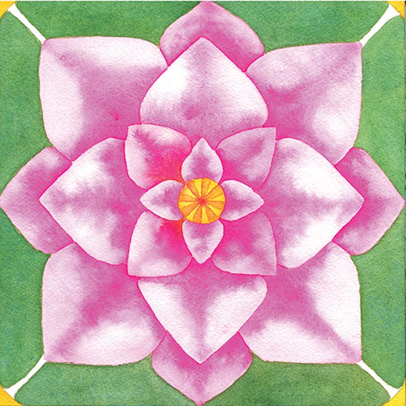 While creating a lotus, think about its symbolism, and consider what you'd like to rise above.