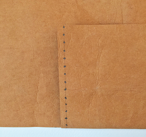 Marking pockets for sewing