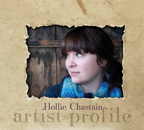 Mixed-media artist Hollie Chastain   ClothPaperScissors.com