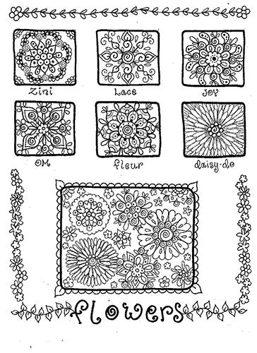 Doodle flower art from Spring 2016 Zen Doodle Workshop magazine