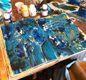Nathalie Kalbach at Art Journaling Live 2