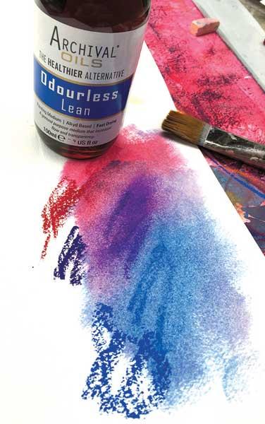 oil pastels   Jane Davenport, ClothPaperScissors.com