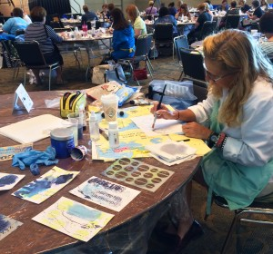 Class in session at Art Journaling Live 2