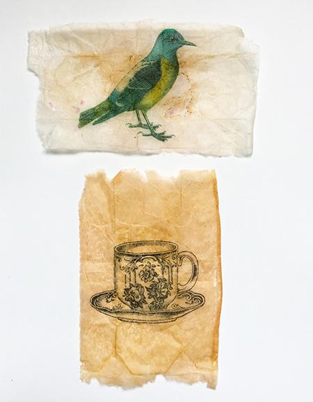 Digital printing on tea bags