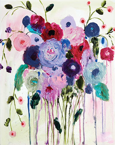 """""""Flowing Flowers"""" by Carrie Schmidt from the book Painted Blossoms"""
