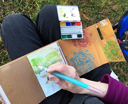 Travel art journal