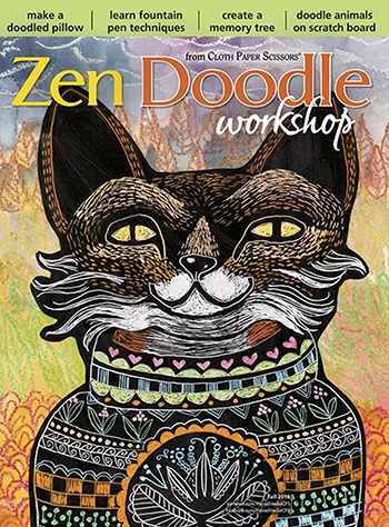 Gel printing plate techniques in the Fall 2016 issue of Zen Doodle Workshop magazine