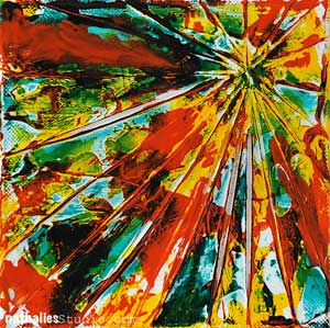 Acrylic Painting Techniques | Nathalie Kalbach, ClothPaperScissors.com