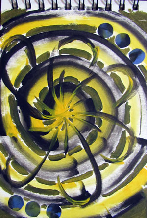 Art journal page | Cherie Haas, ClothPaperScissors.com