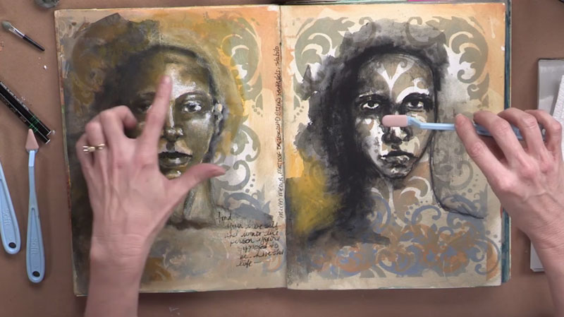 Art Journal Preparation with Pam Carriker
