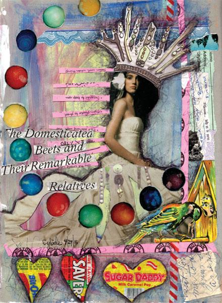 Art journaling ideas | Art by Cybele-Angelique Flematti, ClothPaperScissors.com