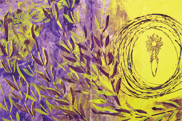 Art journaling ideas | Gabrielle Javier-Cerulli, ClothPaperScissors.com