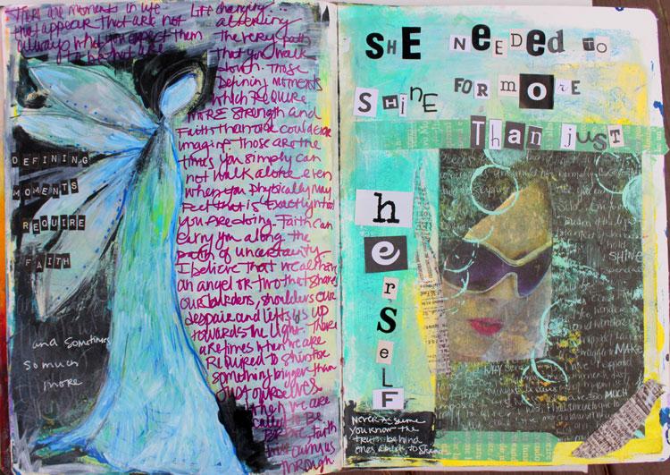 Art journaling inspiration | Jodi Ohl, ClothPaperScissors.com