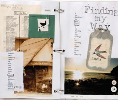 Art journaling ideas | Nicole Rae, ClothPaperScissors.com