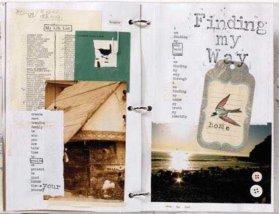 Art journaling ideas | Nichole Rae, ClothPaperScissors.com