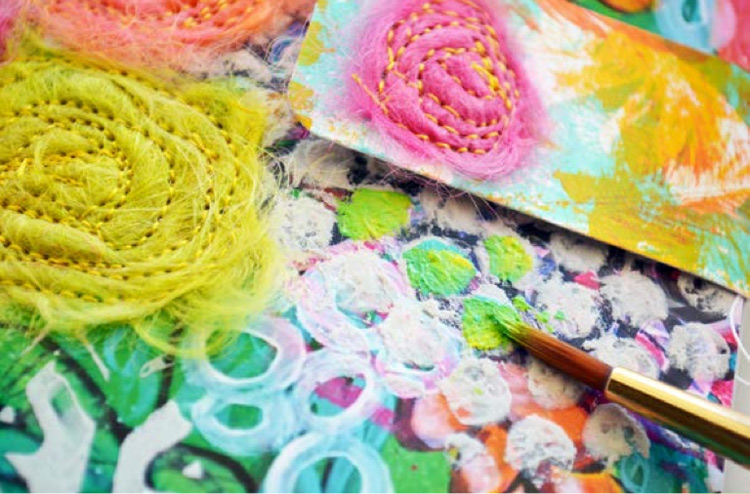Art journaling ideas | Rae Missigman, ClothPaperScissors.com