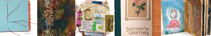 Get creative and fun bookmaking ideas from four expert mixed media artists.