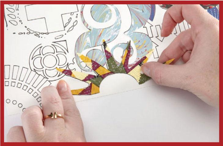 Collage art ideas | Kass Hall, ClothPaperScissors.com